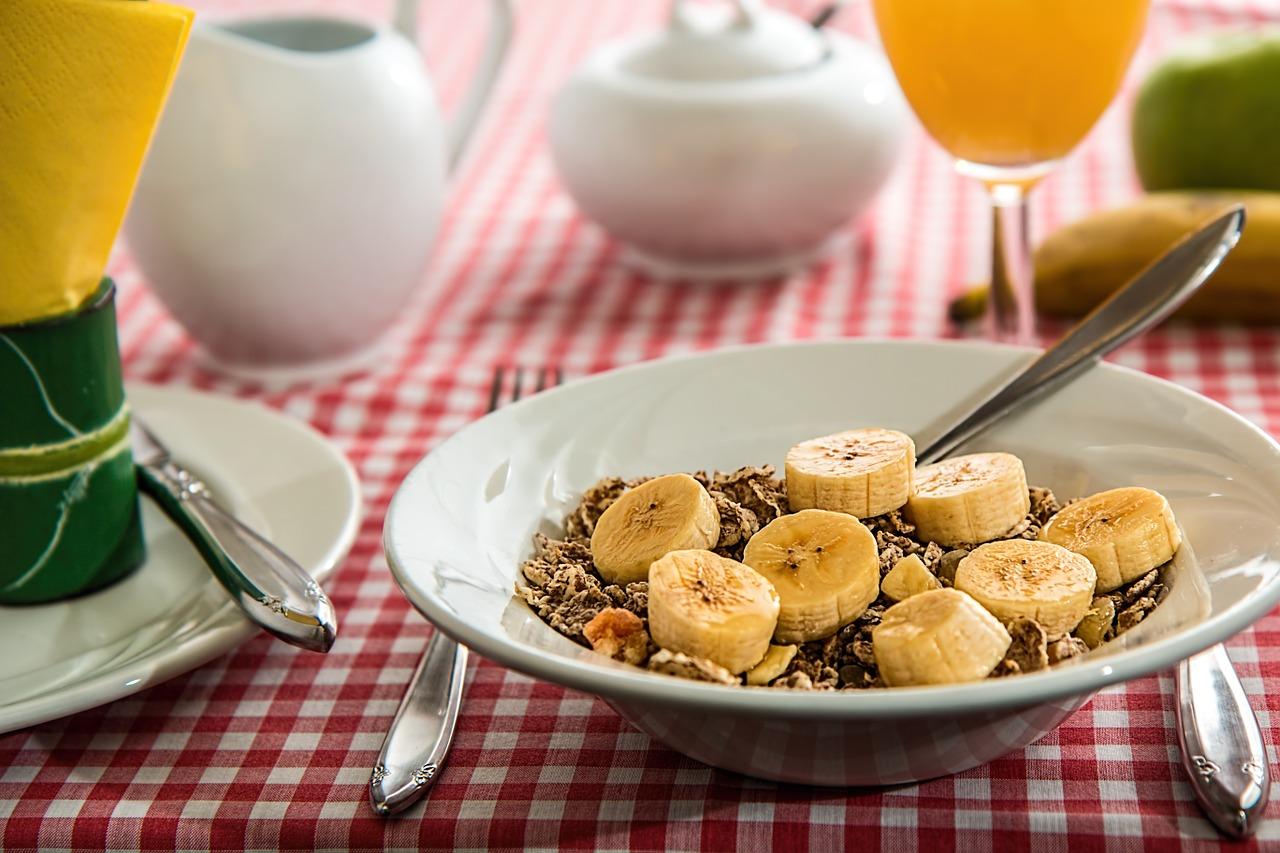 Cereal Breakfast Meal Food Banana Fruit Healthy