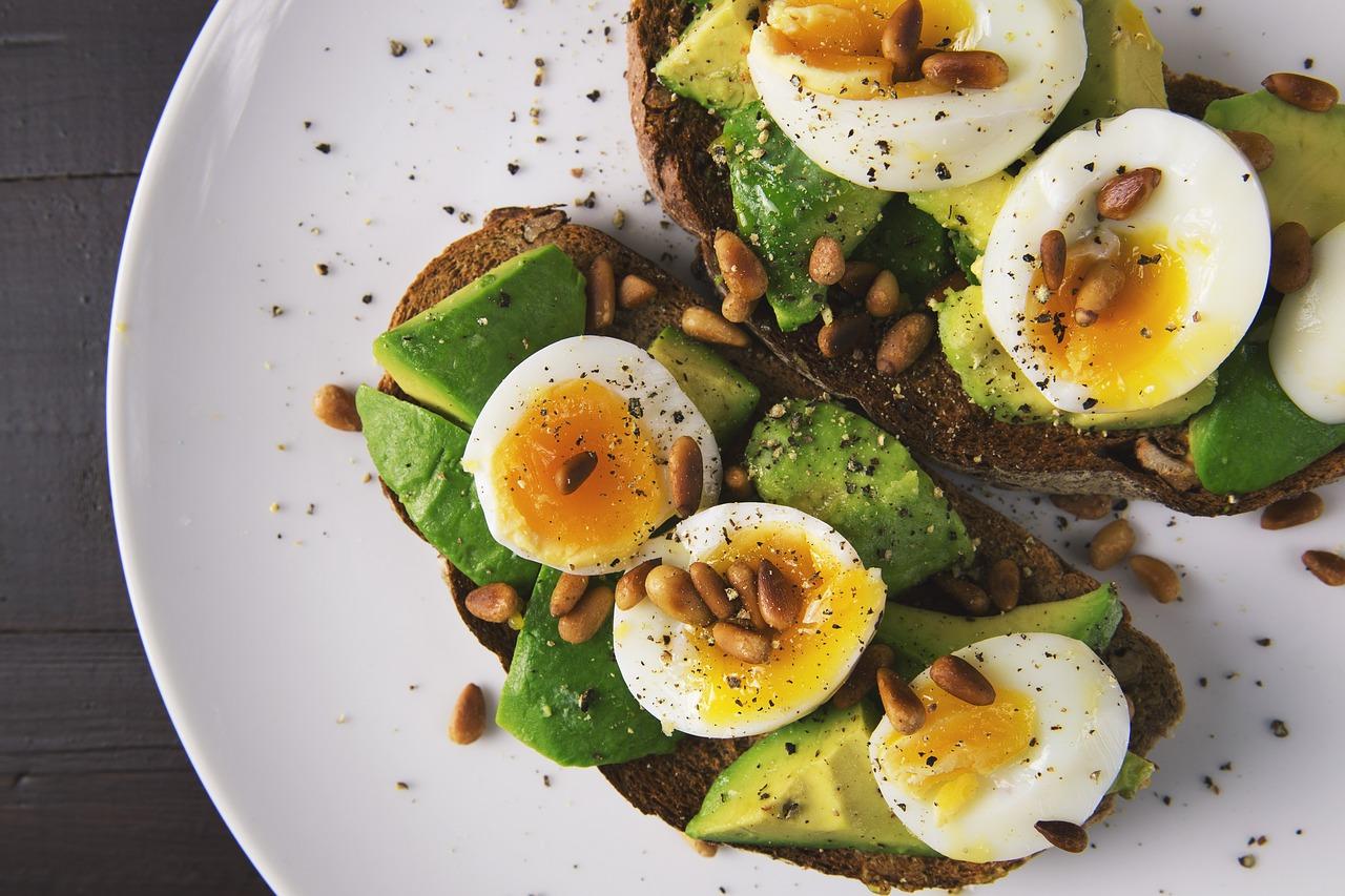 Food Egg Eggs Toast Toasted Bread Avocado